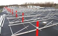 Topdanmark, taget under montering af solceller
