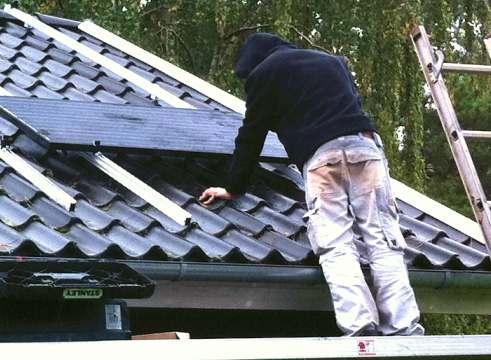 Installering af solceller